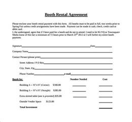Salon Booth Rental Agreement Template by Sle Booth Rental Agreement 7 Documents In Pdf Word