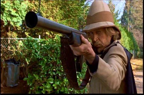 jumanji movie guns safari hunter graves