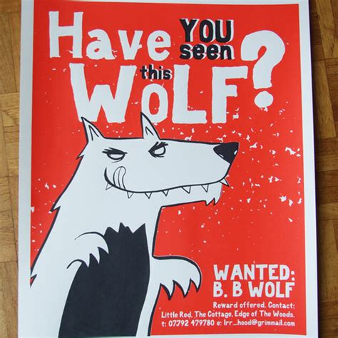 printable wanted poster for the big bad wolf brush talk 8 digital media rules as told by children s fables