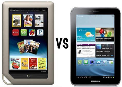 Tablet Samsung Tab V nook tablet vs samsung galaxy tab 2 7 0