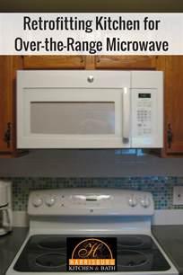 Kitchen Bulkhead Ideas Retrofitting Kitchen For Over The Range Microwave