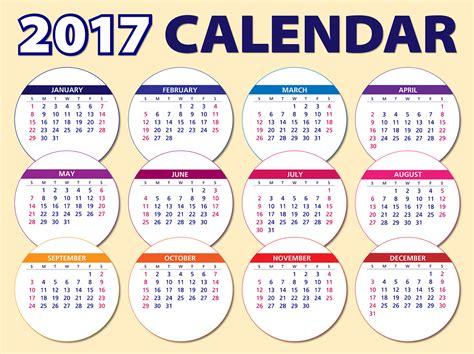 gratis vectorafbeelding kalender 2017 agenda schema