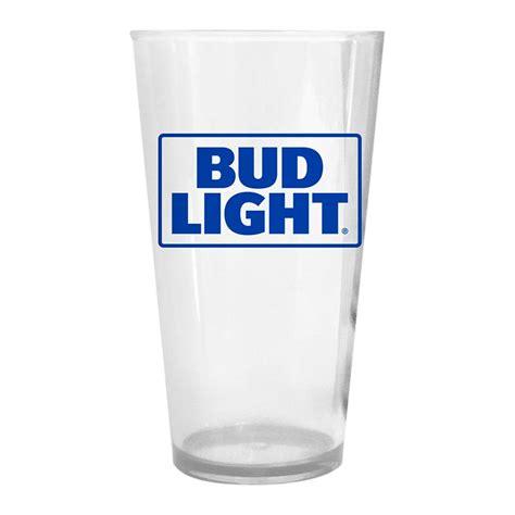 bud light light up glass bud light plastic pint glass