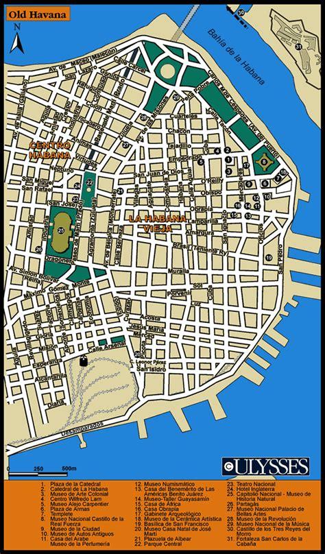 printable map havana havana tourist map havana cuba mappery