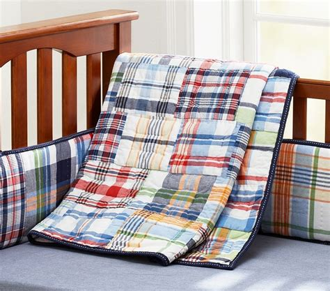 Pottery Barn Madras Crib Bedding Pin By Robin Norris On Nursery Pinterest