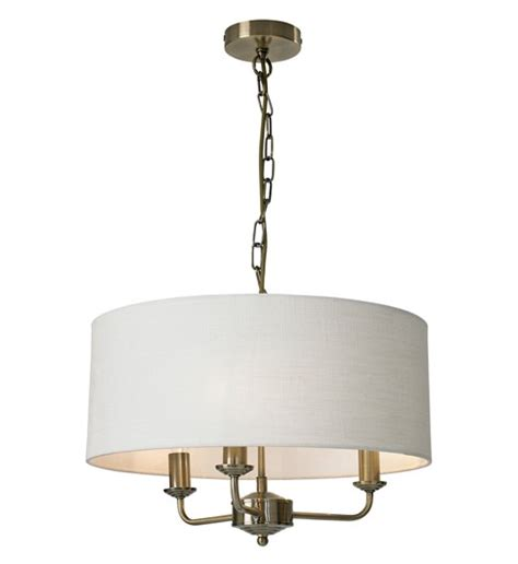 3 Light Ceiling Fitting by Grantham 3 Light Ceiling Fitting Antique Brass