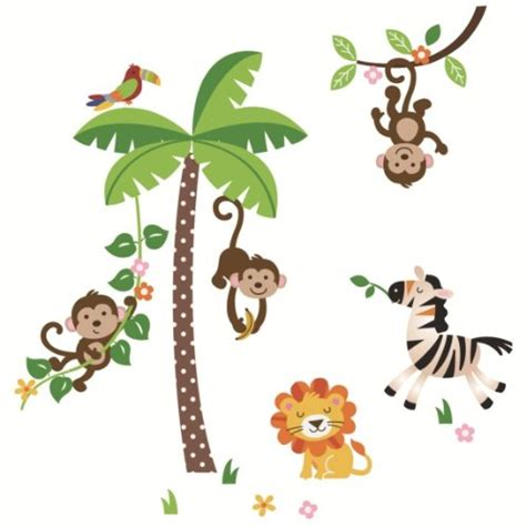 five animal wall stickers for your nursery infobarrel