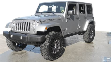 jeep wrangler 4 door silver 2016 jeep wrangler unlimited rubicon lifted for sale 25