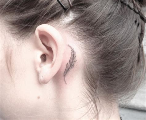 tattoo behind ear pros and cons 40 amazing behind the ear tattoos for women feathers