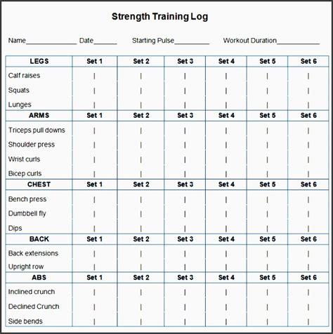 workout plan template 6 printable fitness plan template sletemplatess