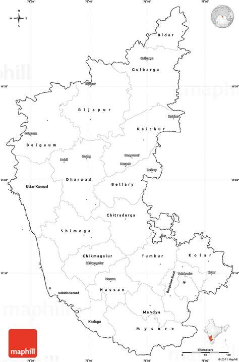 Karnataka Outline Map by Blank Simple Map Of Karnataka Cropped Outside