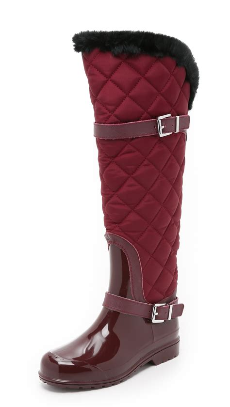 Quilted Boots by Michael Michael Kors Fulton Quilted Boots In Lyst