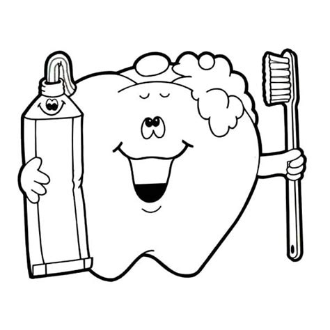 printable tooth brushing coloring pages printable best