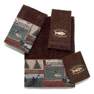 rustic bath towels pineland fishing rustic bath towel set