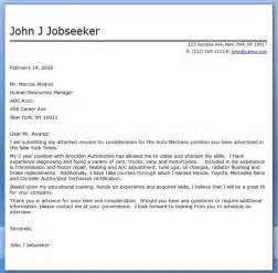 Auto Repair Cover Letter by Auto Mechanic Cover Letter Template Resume Downloads