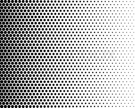 color halftone pattern basic halftone dots effect in black and white color