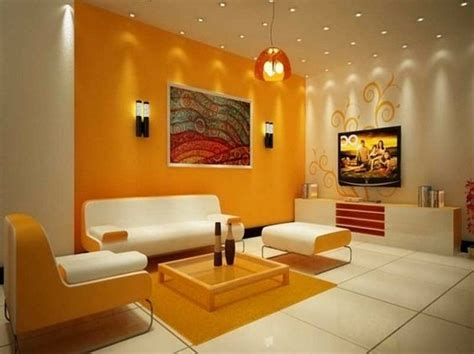colour combination for walls wall color combinations orange wall white furniture http