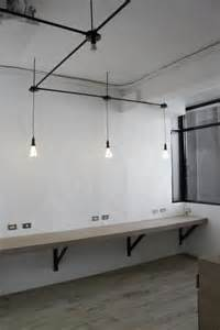 Desk Lighting Ideas Include Workbench With High Stools In Reception Area For To Small Meetings Visitors