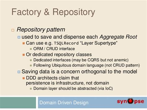 repository pattern aggregate root d2 domain driven design