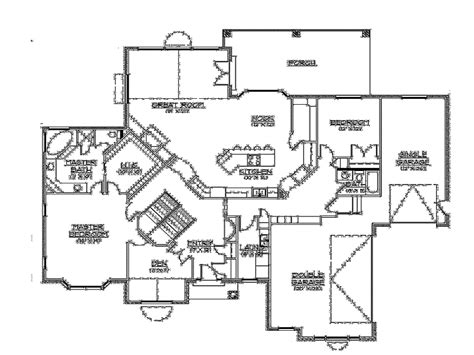 ranch style floor plans with walkout basement excellent idea ranch house plans walkout basement style