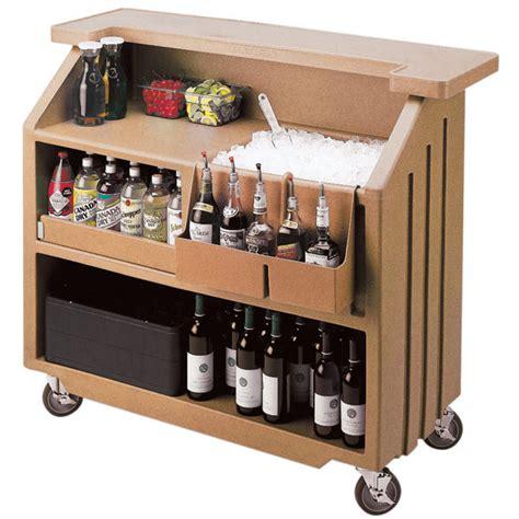 Small Home Drinks Bar Cambro Portable Bar 540 Coffee Beige Portable Cambars