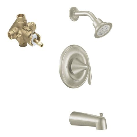 Shower Faucet Temperature by Glacier Bay Estates Watersense 1 Handle Tub And Shower Faucet In Brushed Nickel 874w 1004 The