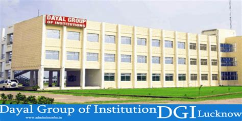 Lucknow Mba Fees by Dayal Of Institution Dgi Lucknow Mba Fees Structure