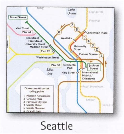 seattle light rail map seattle transport map usa light rail historic