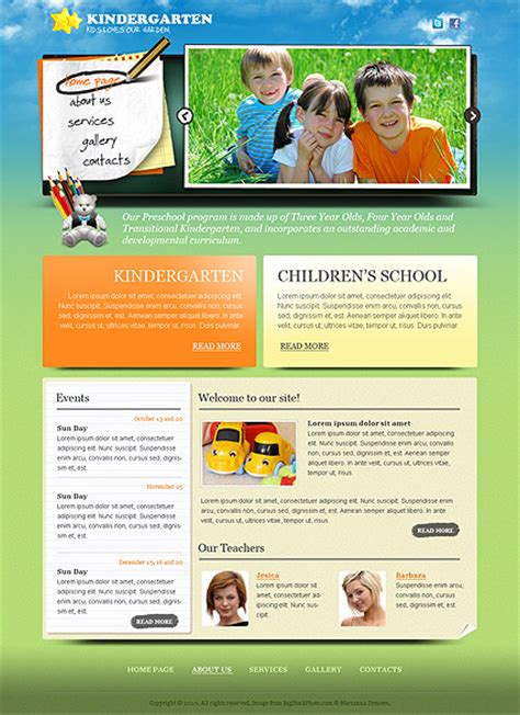 download free website templates for kindergarten kindergarten website template best website templates