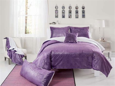 sparkly bedroom decor seventeen sparkle mink purple comforter set with sham s