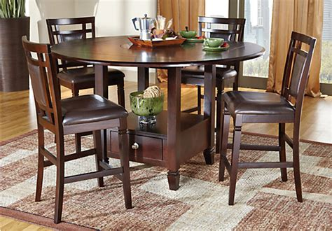 5pc dining room set landon chocolate 5 pc counter height dining set dining room sets wood