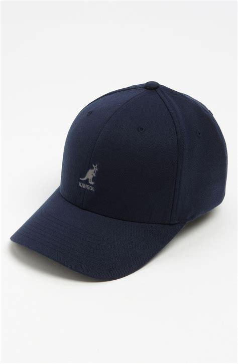 kangol wool blend baseball cap in blue for blue