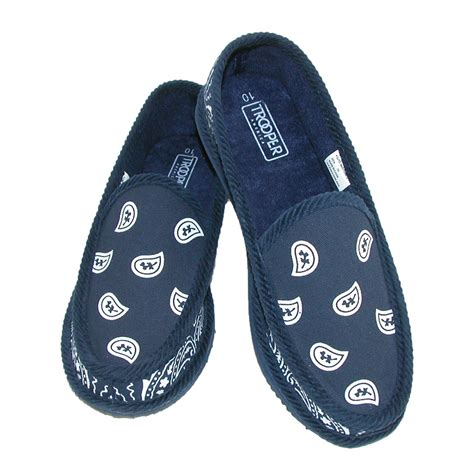 trooper house shoes bandana print slip on slipper house shoe by trooper america slippers women s