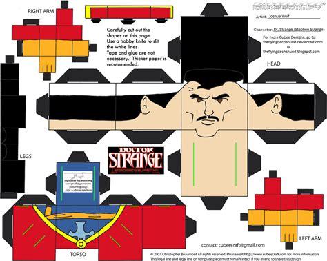 Marvel Papercraft - marvel10 dr strange cubee by theflyingdachshund on deviantart