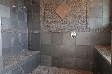 stone bathroom showers using natural stone in showers