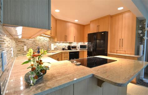 contemporary oak kitchen cabinets oak cabinets kitchen traditional with glass tile