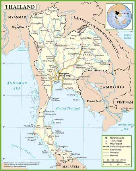printable map thailand thailand road map