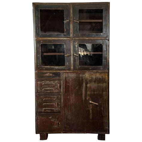 Antique Storage Cabinet Vintage Industrial Metal Storage Cabinet At 1stdibs