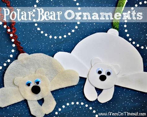 Dinosaur Craft For Kids - cool polar bear crafts for winter and christmas season