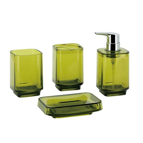 Yellow Bathroom Accessories Sets Kingston Brass 4 Bathroom Accessory Set In Rubbed Bronze Hbahk192478nb The Home Depot