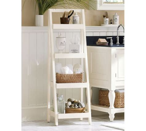 pottery barn bathroom shelves floor standing ladder pottery barn for the bathroom