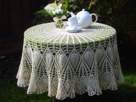 Pattern Crochet Tablecloth | lacy crochet crocheted tablecloth