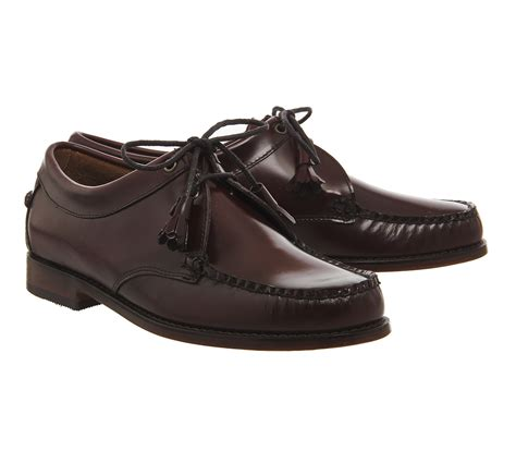 tie shoes g h bass co weejun tie shoe in purple for lyst