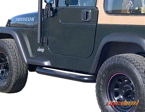 Nerf Bars Jeep Wrangler 87 06 Jeep Wrangler No Drilling 3 Quot Side Armor Step Nerf