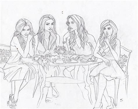 Coloring Pages Pretty Liars