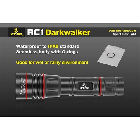 Xtar Rc1 Darkwalker Usb Rechargeable Senter Led Cree Xp L V6 800lumens xtar rc1 darkwalker usb rechargeable senter led cree xp l v6 800 lumens black