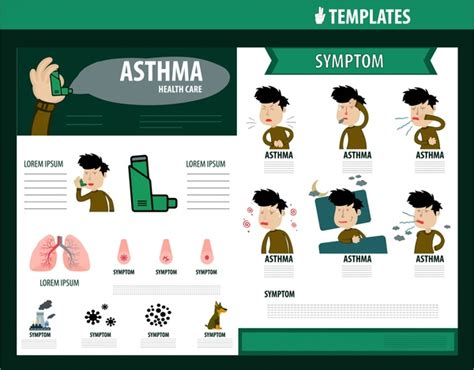 asthma brochure template healthcare brochure design with asthma symptom infographic