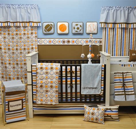 Baby Boy Sports Crib Bedding Sets Sports Crib Set Sports Baby Bedding Bacati Mod Sports