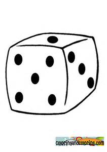 color dice dice coloring pages
