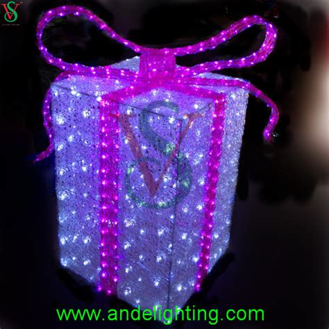 lighted gift boxes decorations acrylic lighted outdoor decorations gift boxes
